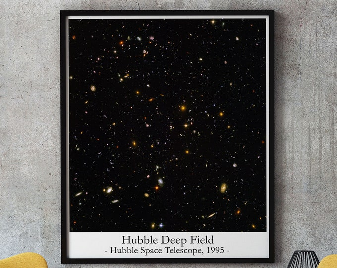 Hubble Deep Field Hubble Telescope Photo Famous Space Photo