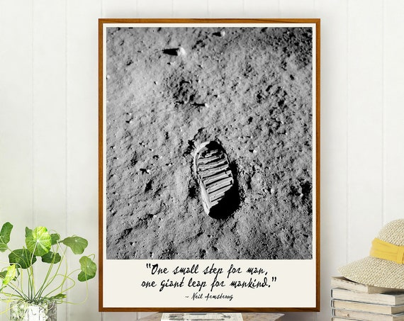 Moon Footprint One Small Step for a Man Neil Armstrong July 1969