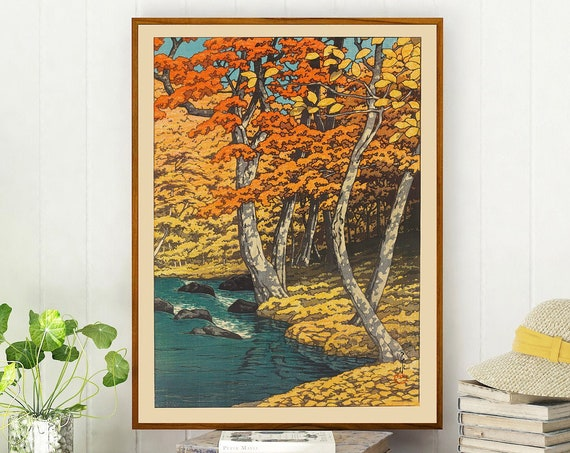 Autumn Painting Autumn Wall Art Autumn Print