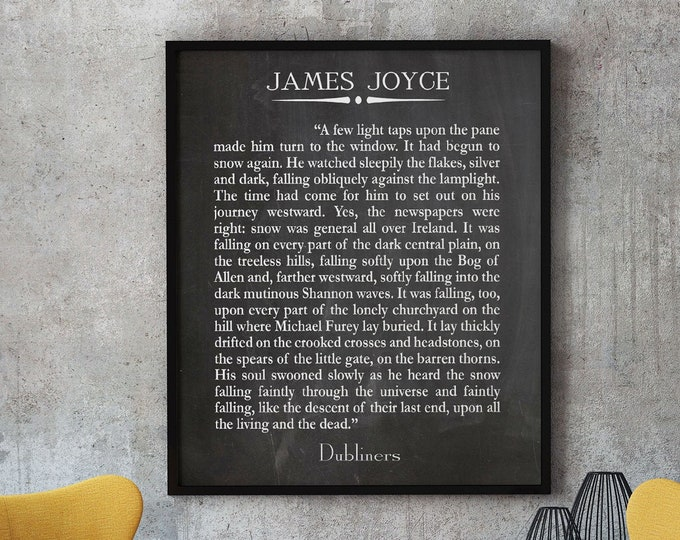 Dubliners by James Joyce The Dead Last Page Book Page Print