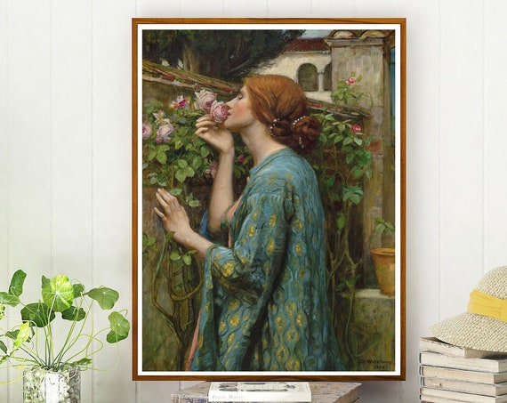 The Soul of the Rose by John William Waterhouse 1903 Watercolor Art