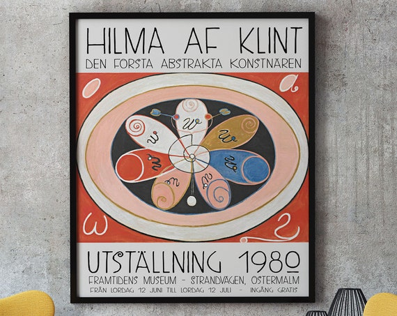 Hilma Af Klint Poster Museum Exhibition Prints Swedish Poster