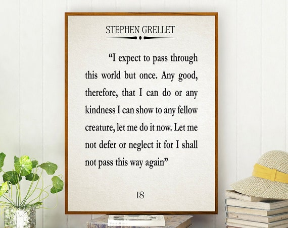 Kindness Quote Simplicity Quote by Stephen Grellet