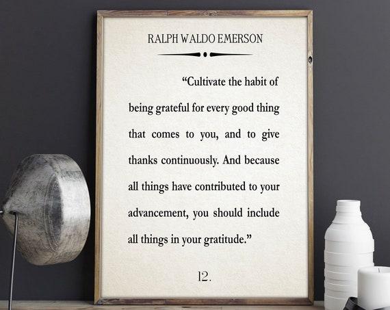 Gratitude Quote Gratitude Poster Gratitude Wall Art Gratitude Gift