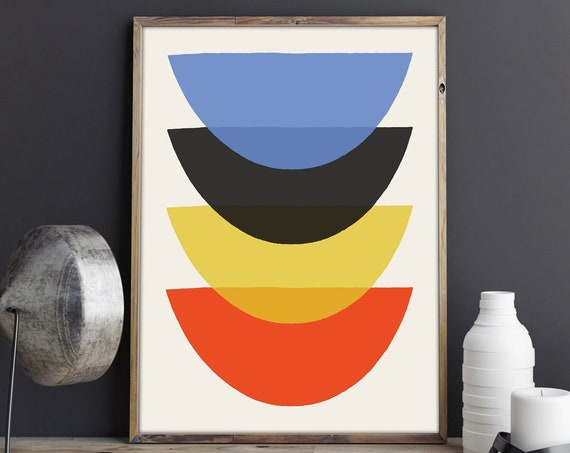 Abstract Art - Modern Abstract Colorful print - Scandinavian Style Abstract - Kitchen Abstract