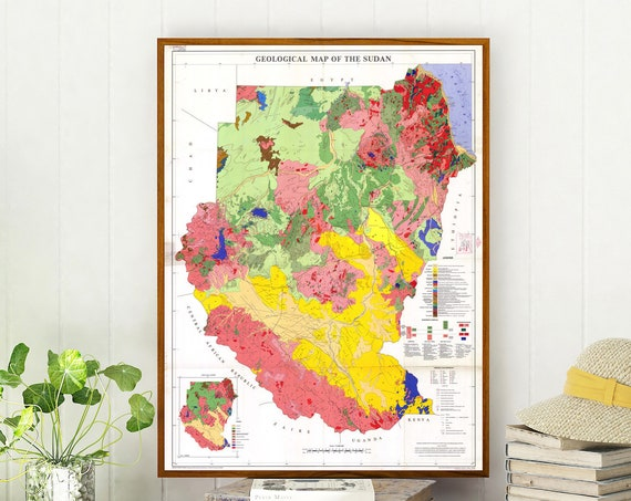 Sudan Map Geological Map of Sudan