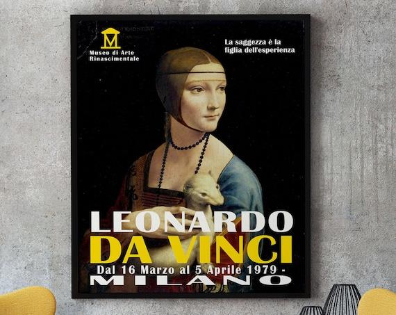 Leonardo Da Vinci Exhibition Poster Milan Art Poster