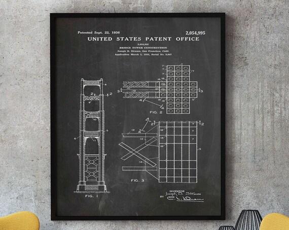 Golden Gate Bridge Design Golden Gate Bridge Wall Art