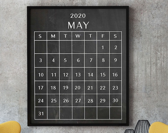 Calendar Monthly - May 2020