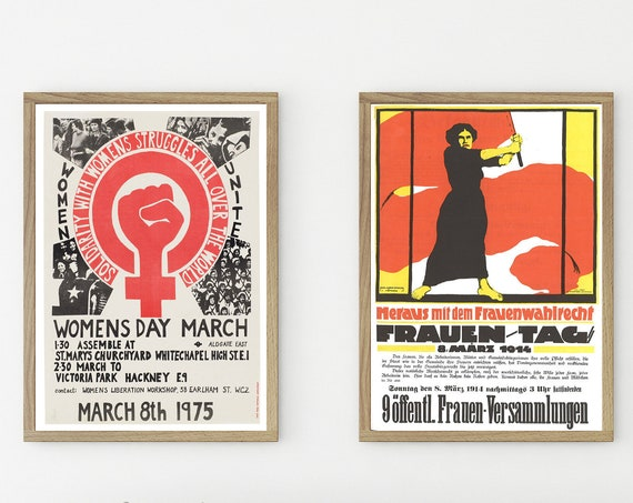 Women's Day Posters Feminist Posters Women's Rights Prints Set of 2