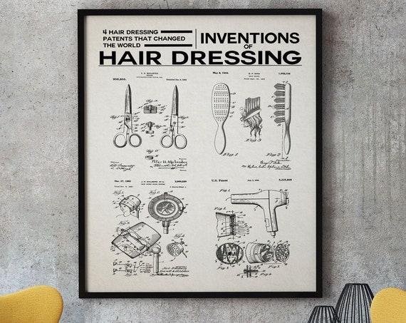 Hair Salon Decor Hair Dressing Wall Art Beauty Salon Art