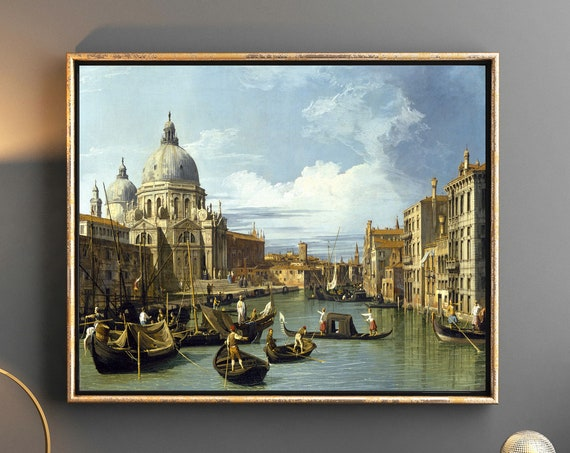 Canaletto Painting The Entrance to the Grand Canal Venice