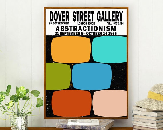 London Art Gallery Exhibition Poster 1965 Art Gallery Print