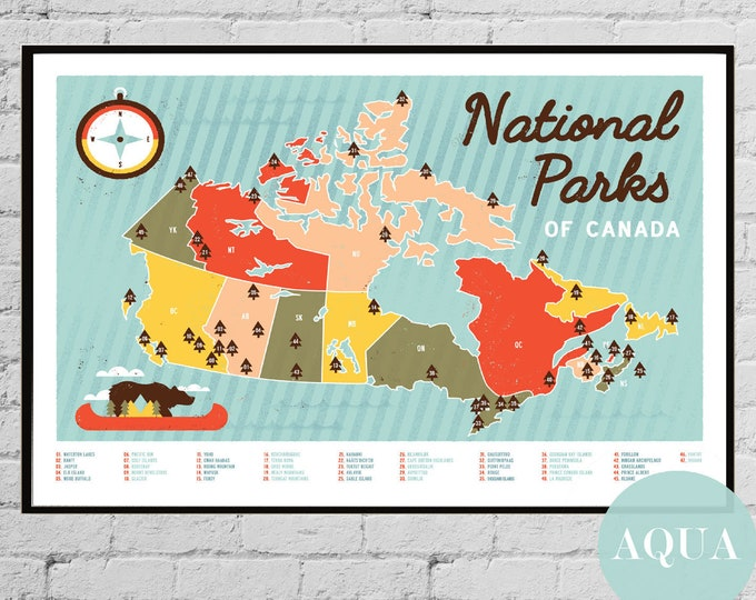 Canadian National Parks Map of Canada Banff National Jasper National