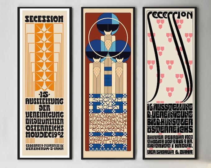 Art Nouveau Vienna Secession Exhibition Posters Set of 3