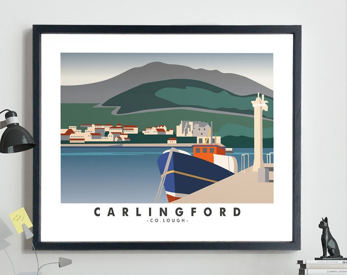 Carlingford Travel Poster Carlingford Co Louth Ireland