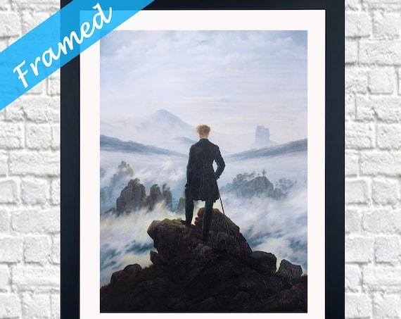 Casper David Friedrich Wanderer on the Sea of Fog Painting