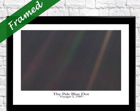 The Pale Blue Dot Photo - Carl Sagan - NASA Photo - Space Decor
