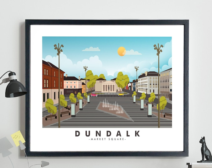 Dundalk Travel Poster Co Louth Poster Market Square Dundalk