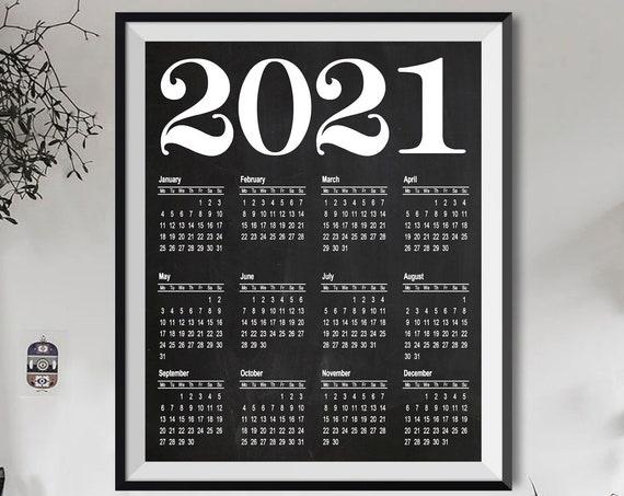 Calendar 2021 Calendar Print Large 2021 Large Office Calendar