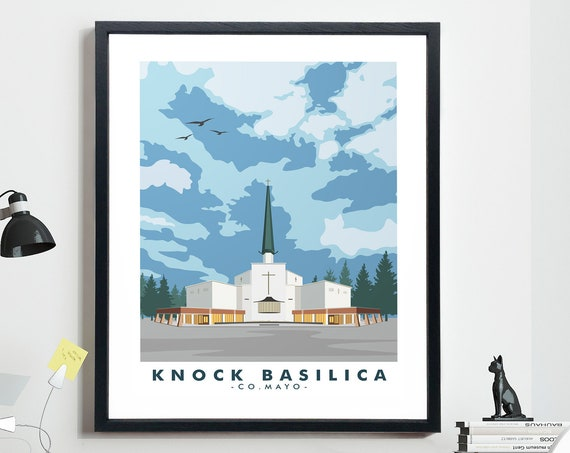 Knock Pilgrimage Co Mayo Poster Catholic Travel Poster Pilgrim Gift