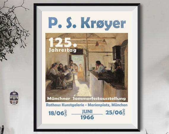 German Museum Exhibition Poster 1966 PS Kroyer Art