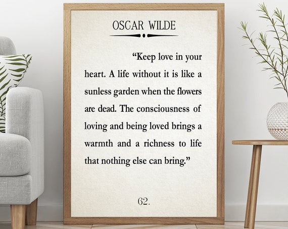 Keep Love Quote Oscar Wilde Quote Love Poster