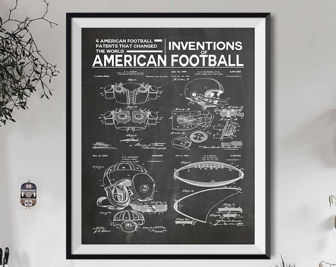 American Football Poster Football Gift Football Decor