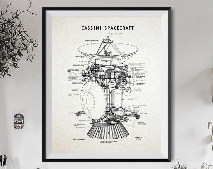 Cassini Spacecraft Diagram Cassini Poster Space Travel Diagram