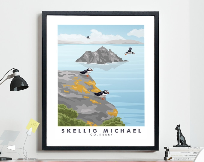 Ireland Travel Poster Skellig Michael Poster Kerry Poster