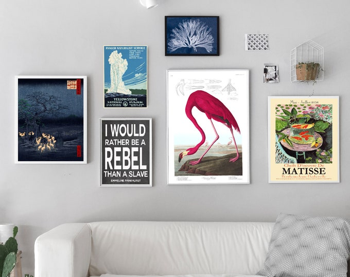 Ready Made Gallery Wall Art Set of Prints of Various Sizes Gallery Wall Poster Set WB-G3