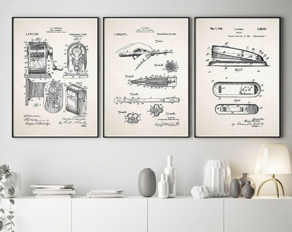 Office Stationery Poster Set Office Wall Art Office Posters for Busy Office WB571-576