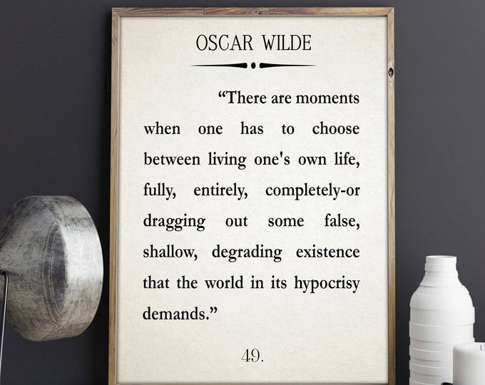 Oscar Wilde Quote Graduation Quote Authentic Life Quote Oscar Wilde Poster Oscar Wilde Inspiring Quote Motivating Quote Motivational Quote