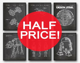 6 Star Wars patent Posters Set of Star Wars Posters Star Wars Print Star Wars Decor Star Wars Gift Star Wars Art Print Space Art (WB121)