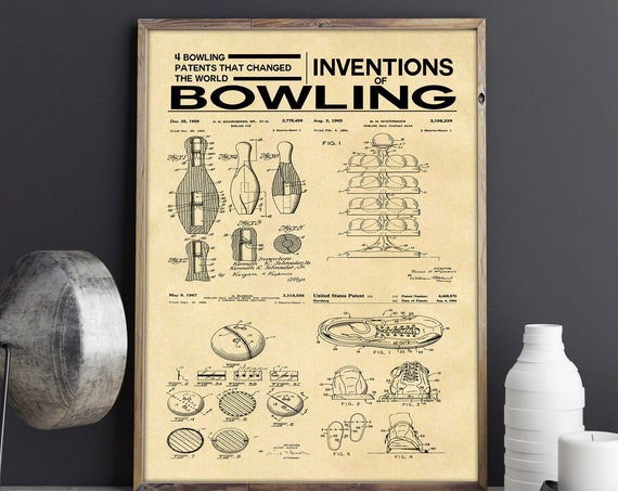Bowling Poster Bowling Alley Inventions of Bowling