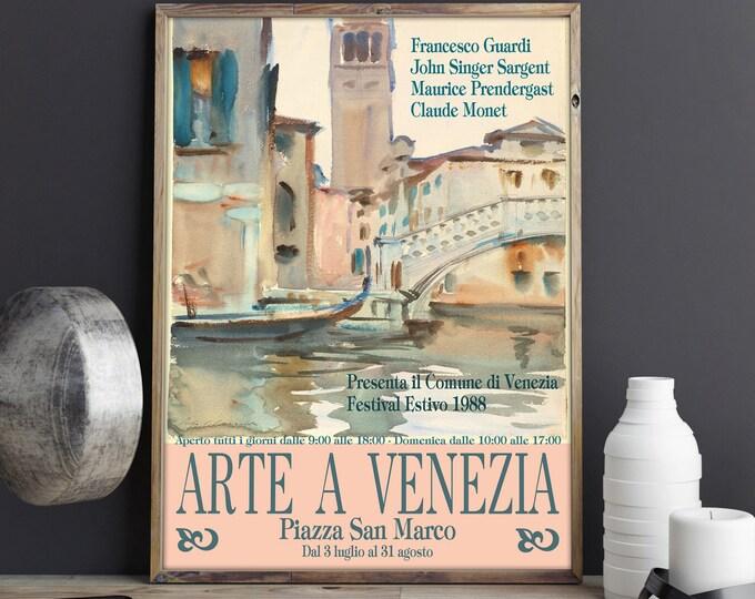 Venice Poster Venice Art Exhibition Print