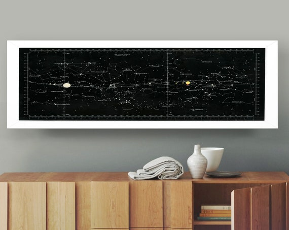 Star Chart Used by Apollo 11 Astronaut Michael Collins 1969