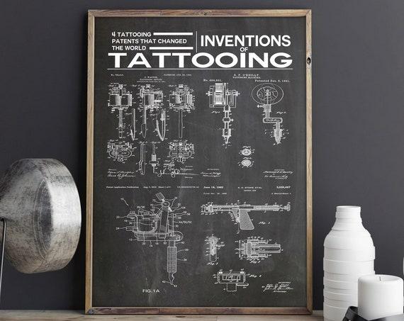 Tattooing Inventions Tattooing Blueprints Tattoo Wall Art - Win 7