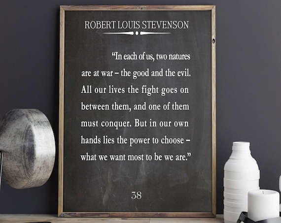 Addiction Recovery Gift Sobriety Gift Quote by Robert Louis Stevenson