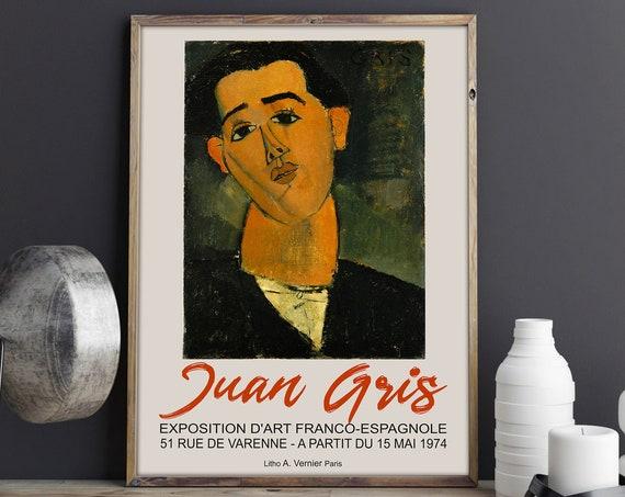 Juan Gris Exhibition Poster for Art Gallery Exhibition Paris 1974