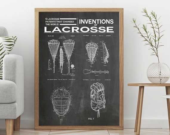 Lacrosse Poster Lacrosse Decor Inventions of Lacrosse Gift