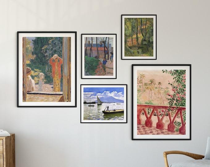 Gallery Wall Print Set of Classic Art Paintings Set of 5 Gallery Wall Classic Art prints