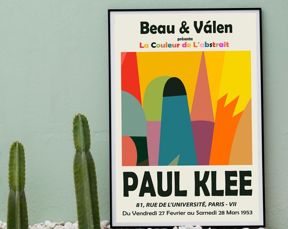 Paul Klee Poster Paul Klee Museum Exhibition Wall Art 1953