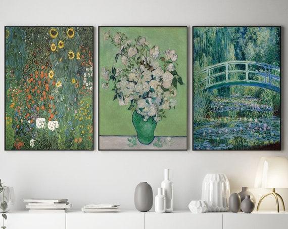 Chartreuse Paintings by Gustav Klimpt Monet and Van Gogh