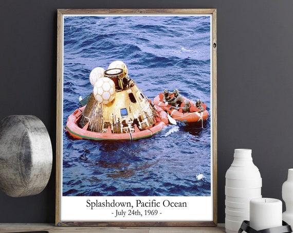 Splash Down Apollo 11 Crew Land Back on Earth 1969