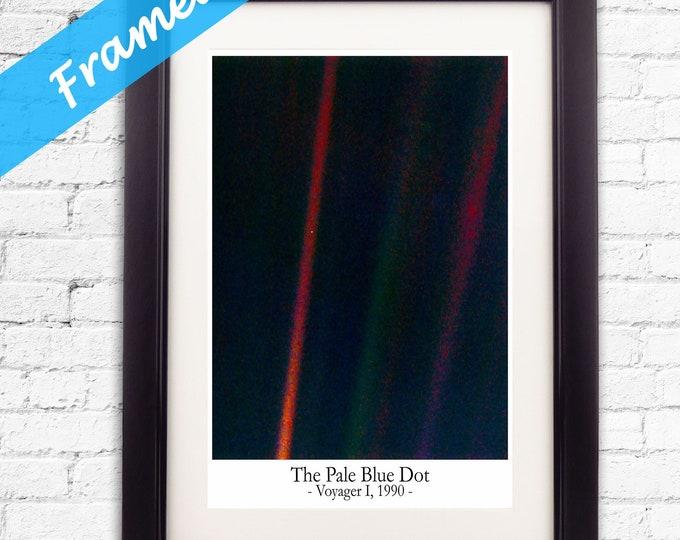 Pale Blue Dot Framed Photo Framed House Warming Gift