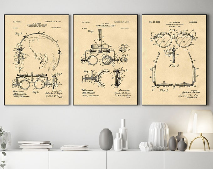 Optician Blueprints Optician Inventions Eye Inventions Poster
