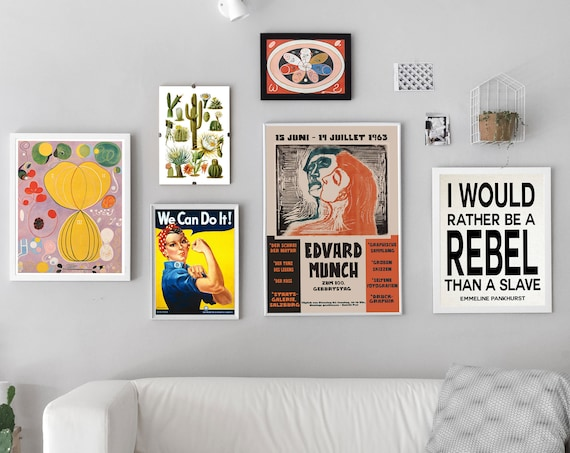 Gallery Wall Posters Set of 6 Vibrant Wall Prints