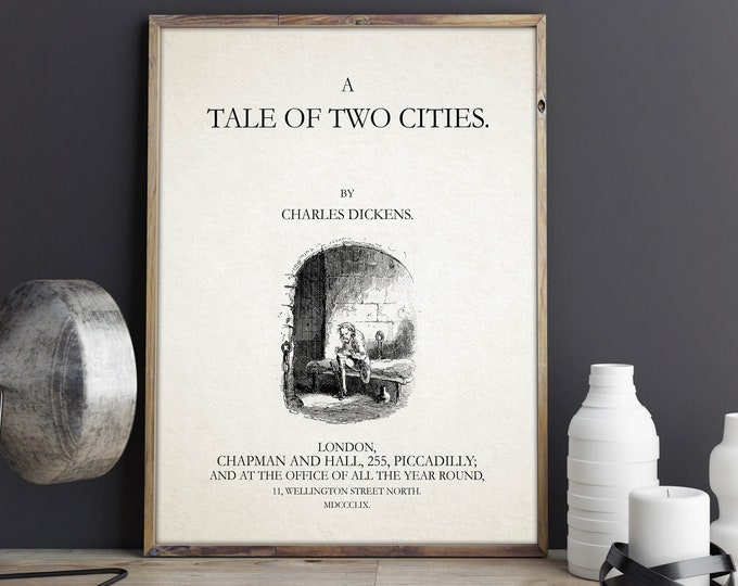 A Tale of Two Cities Book Title Page Charles Dickens