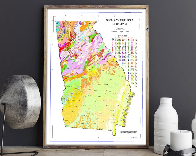 Georgia State Map Geological map of Georgia